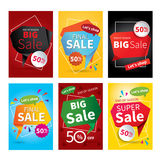 Set of sale website banner templates.Social media banners. For online shopping. Vector illustrations for posters, email and newsletter designs, ads, promotional Royalty Free Stock Photography