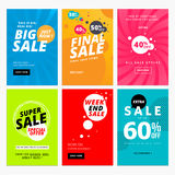 Set of sale website banner templates. Vector illustrations for social media banners, posters, email and newsletter designs, ads, promotional material Stock Photos