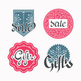 Set of sales and gifts labels Royalty Free Stock Photos