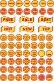 Set of sales icons and design elements Royalty Free Stock Image