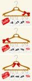 Set of sales labels on light background. Vector illustration. Stock Image