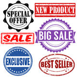 Set of sales stamps Royalty Free Stock Photo