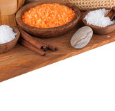 Set of salt for spa Stock Photography