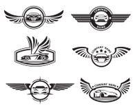 Set samochodowe etykietki Zdjęcie Stock