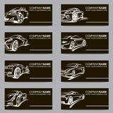 Set samochodowe wizytówki Obraz Royalty Free