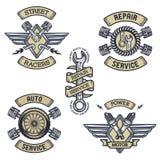 Set samochodowi emblematy, odznaki, symbole Obrazy Royalty Free