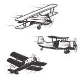 Set samolotowe ikony odizolowywać na białym tle Projekt Eleme royalty ilustracja