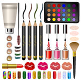 Set samples, different cosmetics and makeup. Stock Images