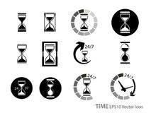 Set of Sand glass and timer icon Stock Photography