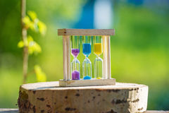 A set of 3 sand timers Royalty Free Stock Images