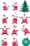 Set of Santa. Isolated on a white background Stock Photos