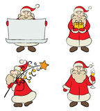 A set of Santa Claus Royalty Free Stock Image