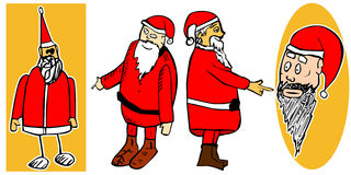 Set of Santa Claus Stock Images
