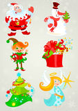 Set, Santa Claus And Friends Stock Photography