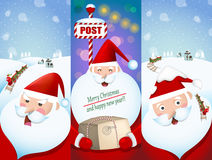 Set of Santa Claus banners Royalty Free Stock Images