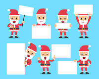 Set of santa claus with blank white banner Stock Photo