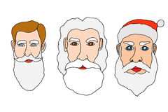 Set of santa claus Stock Image