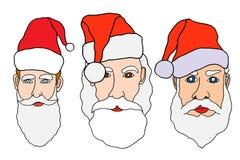 Set of santa claus Royalty Free Stock Photo