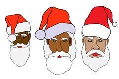 Set of santa claus Royalty Free Stock Images