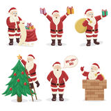 Set of Santa Claus. Character design. Vector Illustration Stock Photo