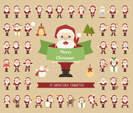 Set of Santa Claus character Royalty Free Stock Image