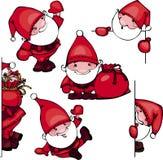 Set Santa Claus Royalty Free Stock Photography
