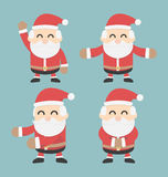 Set of Santa Claus.  flat design Royalty Free Stock Image