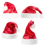 Set of Santa Claus hat  isolated on the white background Stock Photo