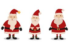 Set of Santa Claus Isolated on White Background royalty free illustration
