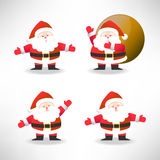 Set of Santa Claus vector illustration for Christmas Royalty Free Stock Photo