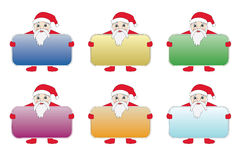 Set of Santa Clauses Royalty Free Stock Image