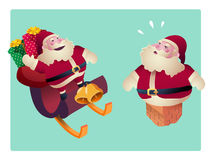 Set of Santa Clauses  for christmas  vector illustration Royalty Free Stock Images
