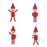 Set of Santa, clip art Royalty Free Stock Image