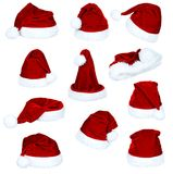 Set of Santa hat Stock Photography