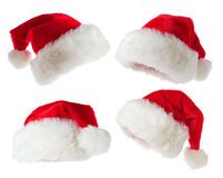 Set of Santa hats Stock Photos