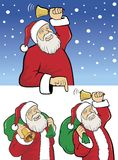 Set of santa illustrations Royalty Free Stock Images