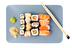 Set of sashimi on plate Royalty Free Stock Photography