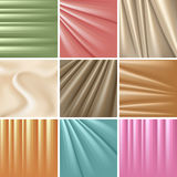 Set of 9 satin backgrounds. Vector illustration Stock Photos