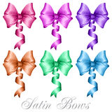 Set of satin bows Stock Photography