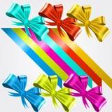 Set of satin ribbons Royalty Free Stock Photos