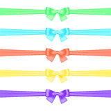 Set of satin ribbons Stock Photos