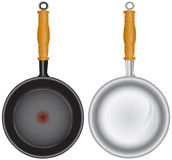 Set of saucepans Stock Photography