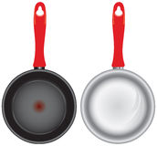 Set of saucepans Royalty Free Stock Photos