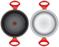 Set of saucepans Stock Photo