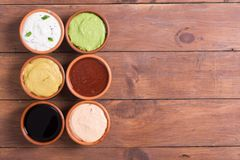 Set of sauces royalty free stock images