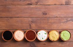 Set of sauces Royalty Free Stock Image