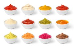 Set of sauces in jar Stock Image