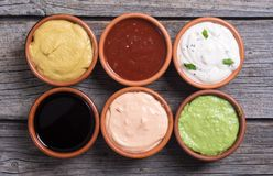 Set of sauces Royalty Free Stock Photography