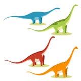 Set of sauropods Stock Photos