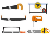 Set of saw Stock Photography
